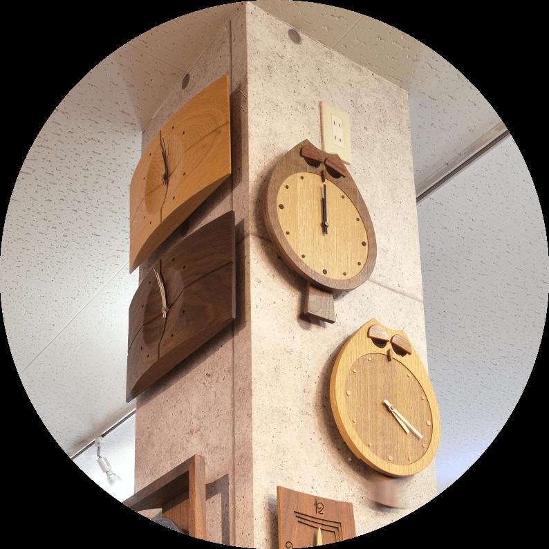 木の時計画像