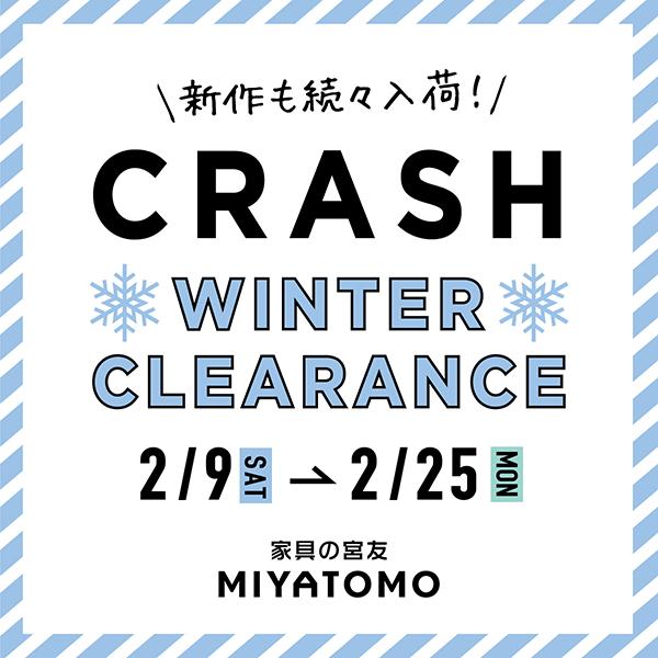 CRASH WINTER CLEARANCE